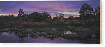 Sunset In Purple Along Highway 7 Wood Print
