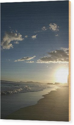 Sunset In Rio Wood Print by Frederico Borges