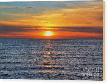 Sunset In San Clemente Wood Print by Mariola Bitner