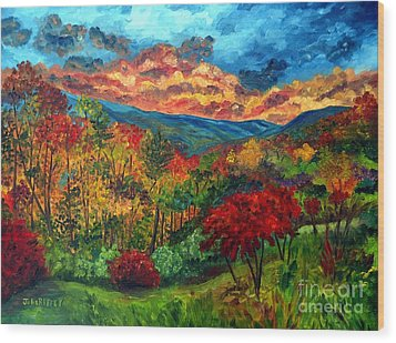 Sunset In Shenandoah Valley Wood Print