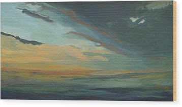 Sunset In St. Petersburg Wood Print