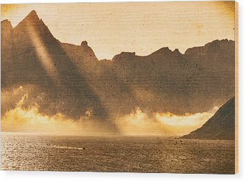 Wood Print featuring the photograph Sunset In The Arctic  by Maciej Markiewicz