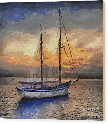 Sunset In The Bay Wood Print by Dragica  Micki Fortuna