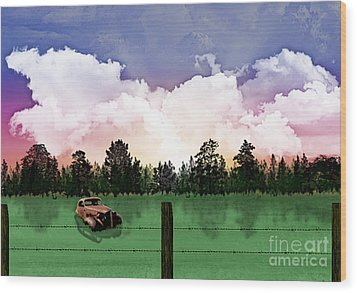 Sunset In The Boondocks Wood Print