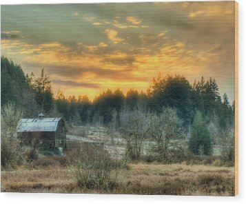 Sunset In The Valley Wood Print by Jeff Cook