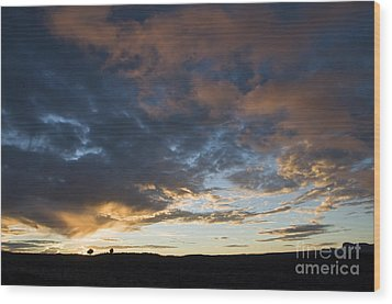 Sunset In Utah Wood Print by Delphimages Photo Creations