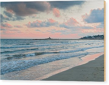 Sunset In Vilanova I La Geltru Near Barcelona Spain Wood Print by Marek Poplawski