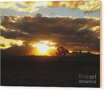 Sunset In Worcerster Wood Print by Willinda Swart