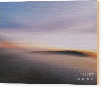 Sunset Island Dreaming Wood Print