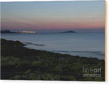 Sunset Island Wood Print by Francesco Zappala
