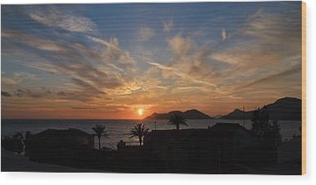 Sunset Wood Print by Ivelin Donchev