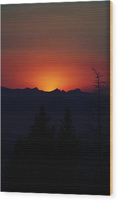 Sunset Wood Print by Janie Johnson
