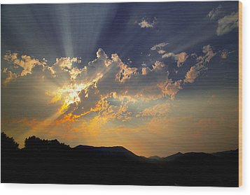 Wood Print featuring the photograph Sunset by Jim Snyder