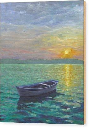 Sunset Wood Print by Joe Maracic