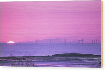 Sunset Wood Print by Spikey Mouse Photography