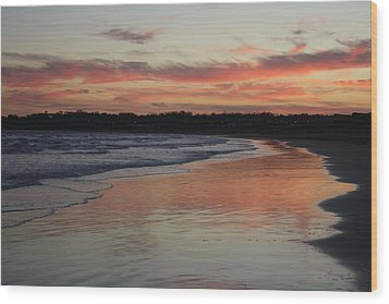 Wood Print featuring the photograph Sunset Kissing Shore II by Amanda Holmes Tzafrir