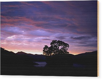 Wood Print featuring the photograph Sunset Lake by Matt Harang