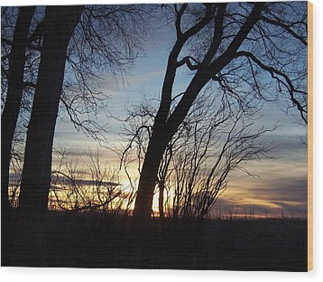 Sunset 1 Wood Print by Larry Campbell