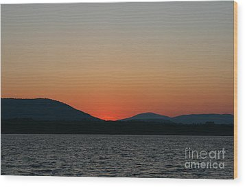 Sunset Lines Of Lake Umbagog  Wood Print