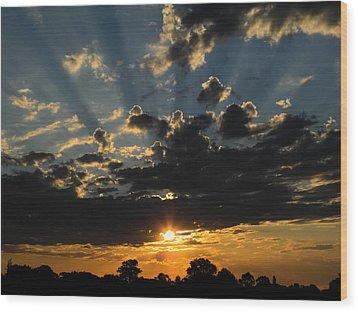 Dark Sunset Wood Print by Mark Blauhoefer