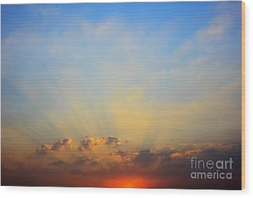 Wood Print featuring the photograph Sunset by Mohamed Elkhamisy
