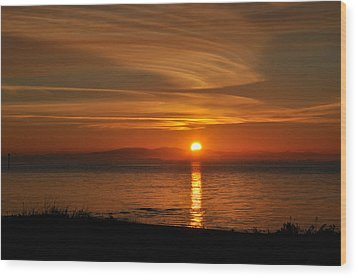 Wood Print featuring the photograph Sunset Mood by Sabine Edrissi