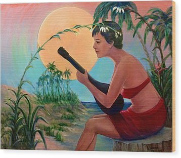 Sunset Music Wood Print by Laila Awad Jamaleldin