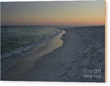Sunset Navarre Beach Wood Print by Janice Spivey