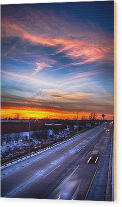 Sunset North Of Chicago 12-12-13 Wood Print by Michael  Bennett