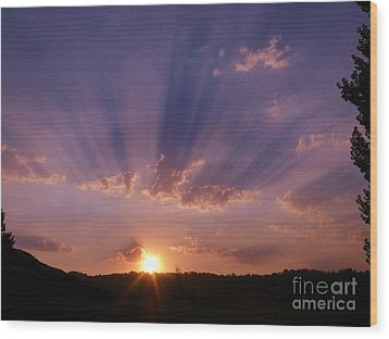 Sunset Of Dreams Wood Print by Jacquelyn Roberts