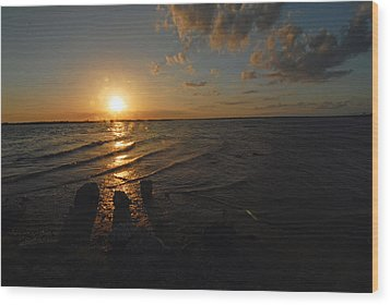 Wood Print featuring the photograph Sunset Olivia Texas by Susan D Moody