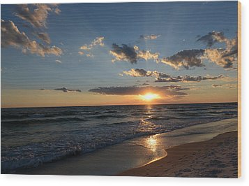 Sunset On Alys Beach Wood Print
