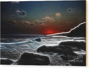 Sunset On La Palma Wood Print