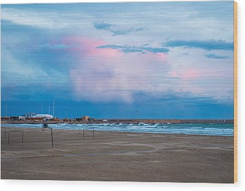 Sunset On Mediterranean Sea Spain Wood Print by Marek Poplawski