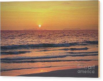 Sunset On Phiphi Island Wood Print