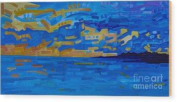 Sunset On Raritan Bay Wood Print