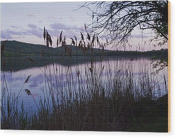 Sunset On Rockland Lake - New York Wood Print
