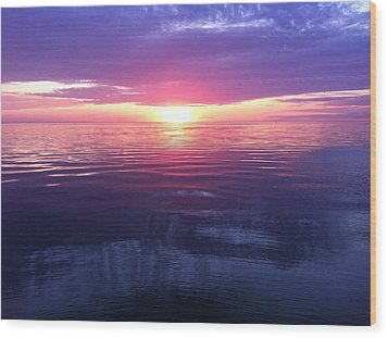Wood Print featuring the photograph Sunset On The Bay by Tiffany Erdman