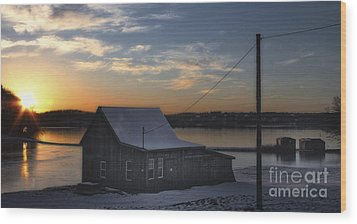 Wood Print featuring the photograph Sunset On The Bog by Gina Cormier
