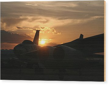 Sunset On The Cold War Wood Print