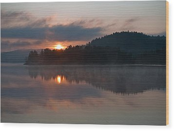 Wood Print featuring the photograph Sunset On The Lake by Marek Poplawski