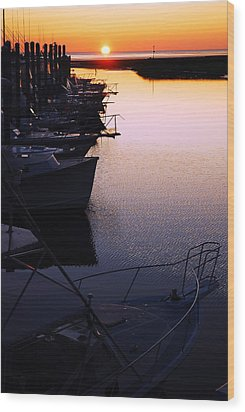 Wood Print featuring the photograph Sunset On The Marina by James Kirkikis
