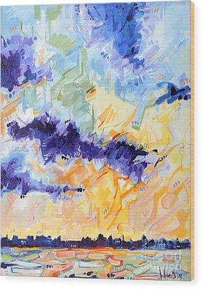 Sunset On The Niagara Wood Print by Michael Ciccotello