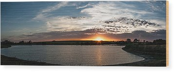 Wood Print featuring the photograph Sunset On The Pond by Dawn Romine