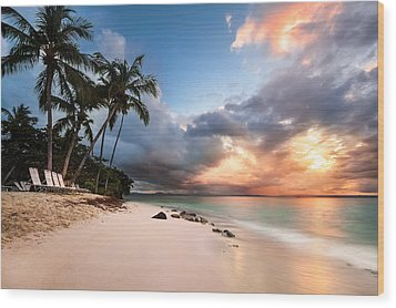 Wood Print featuring the photograph Sunset Over Bacardi Island by Mihai Andritoiu