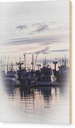 Sunset Over Bellingham Bay Wood Print