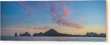 Wood Print featuring the photograph Sunset Over Cabo by Sebastian Musial