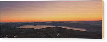 Sunset Over Crater Lake Wood Print by Jaime Weatherford