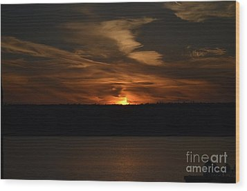 Sunset Over Door County  Wood Print