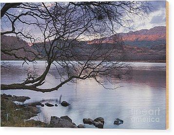 Sunset Over Lake Dinas Wood Print